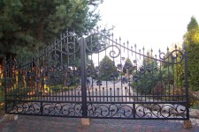 Individual project, ornamented iron gate in SW1, front