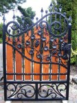 Small wooden gate, renovation in Kensington, oak wood